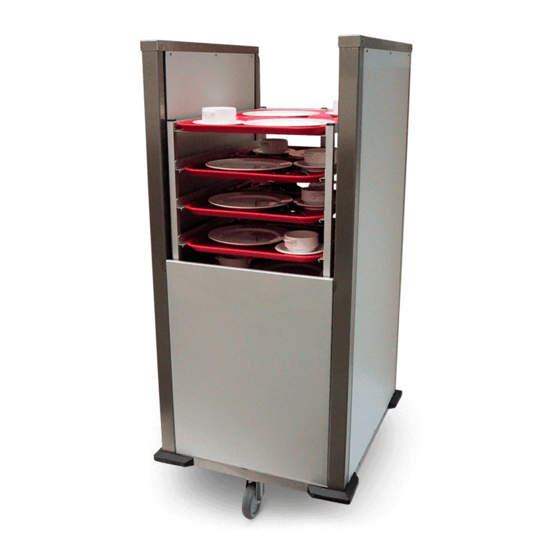 Self Levelling Tray Clear-away Trolley