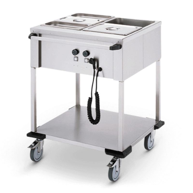 Bain-Marie Trolley 2 X 1/1 Gn Operation On The Long Side