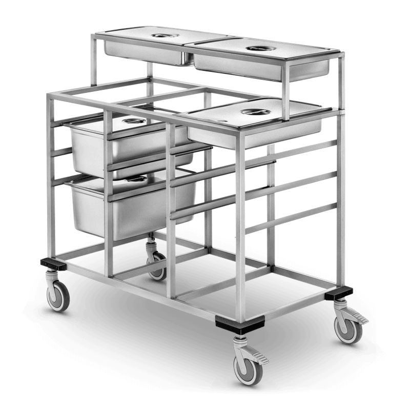 Gastronorm Trolley 2 X 1/1 Gn