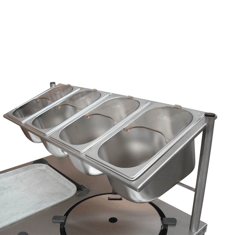 Cutlery Overshelf With 4 Compartments 1/4 Gn