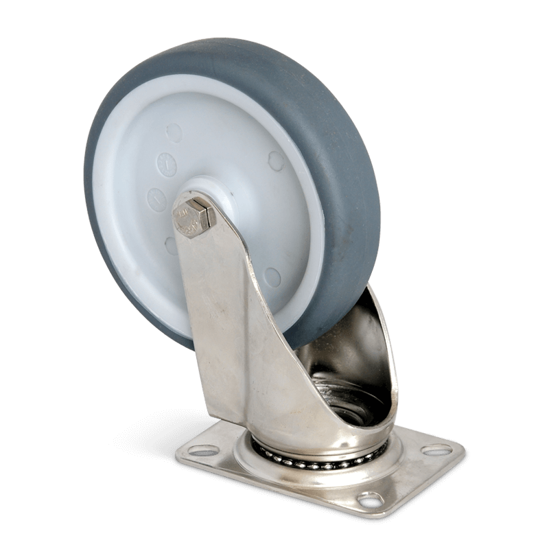 Swivel Castor Without Brake Diam. 125 Mm – Stainless Steel