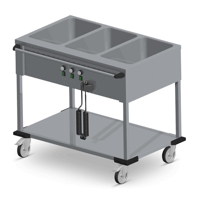 Bain-Marie Trolley 3 X 1/1 Gn Operation On The Long Side